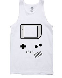 9d34238a68a13a Tank top Funny T-Shirt. Game Boy. Video Games logo printed for Tank top  Mens