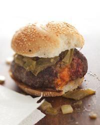 Hamburger Recipes : Pimento Cheese-Stuffed Burgers