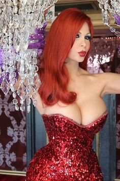 Cassandra Cass looks amazing as Jessica Rabbit