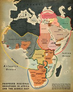 Map: Africa and the Middle East, 1944