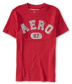 Camiseta Aeropostale Masculina AERO 87 LOGO - Vermelha - Figo Verde: Roupas importadas originais