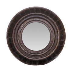 Michael Anthony Furniture Round Weathered Mirror