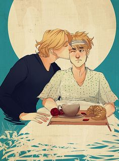 "Hetalia - Arthur Kirkland [England] x Francis Bonnefoy [France] - FrUK<<<""kay, like like now, in school, we're learning about the events of the French revolution. When we got to the part about the 1st coalition and how they ate away at France's borders, enriching themselves on the weak France. I know this is history and not fiction, but half the time I'm just shaking my head like, ""Iggy, how could you?"""