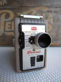 Vintage Kodak Brownie 8mm Movie Camera 2 by corrnucopia on Etsy, $26.00