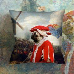 Dog Pillow Pug Pillow Case Pug Pillow Cover Dog by NobilityDogs Pug Pillow, Pugs, Pillow Covers, Culture, Pillows, Etsy, Painting, Art, Art Background