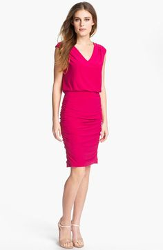 Adrianna Papell Blouson Jersey Sheath Dress available at Nordstrom    Ah, close to Fresh Fiction colors, no?