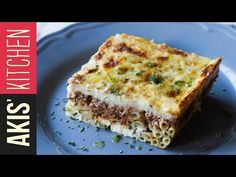 Greek Pastitsio - baked pasta dish by Greek chef Akis Petretzikis. A delicious Greek recipe made with ziti pasta, ground meat, béchamel sauce cheeses and herbs! Greek Pastitsio - baked pasta dish by Greek chef Akis Petretzikis. Pasta Recipes Oven, Cooking Recipes, Greek Pastitsio, Greek Lasagna, Lasagna Casserole, Italian Sausage Soup, Greek Pasta, Greek Cooking, Greek Dishes