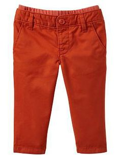 Pull-on slim pants 0-3 or 6-12 month
