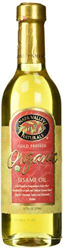 Organic Sesame Seed Oil - Cold Pressed 12.7 fl oz Liquid Napa Valley Naturals http://www.amazon.com/dp/B005A5NOQW/ref=cm_sw_r_pi_dp_g6z1wb1AEQZVV
