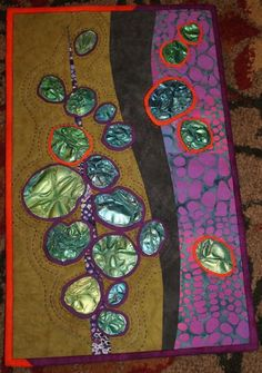 Art quilt using Tyvek (from Peas in a Pod)