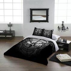 filigree skull gate comforter and pillow set