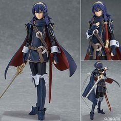 Fire Emblem: Awakening Figma 245 Luqina PVC Action Figure Collection Model Kids Toy Doll brinquedos 15cm