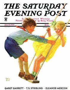 Children on swing – June 22, 1935 – Eugene Iverd