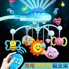 35 Songs Rotary Baby Crib Bed Bell Toy Battery-operated Music Box Bell Crib Baby Kids Funny Early Educational Toy Hot Sale 50-70% OFF Baby Rattles & Mobiles Toys & Hobbies