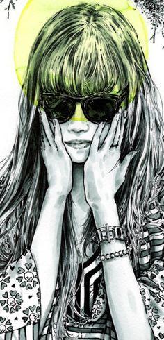 Mimi Tamagotchii by Nicole Guice #girl #illustration #art
