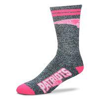 Ladies Melange Socks-Gray/Pink