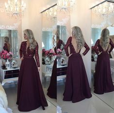 Purple Prom Dress Evening Party Dress With Long Sleeves pst0629 – BBtrending