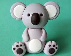 Fondant Koala Cake Topper Set - 1 Koala
