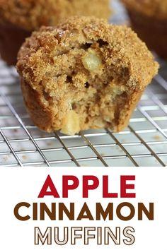 Apple Recipes Easy, Apple Dessert Recipes, Easy Desserts, Cookie Recipes, Autumn Muffin Recipes, Apple Deserts Easy, Apple Baking Recipes, Strawberry Muffin Recipes, Healthy Apple Desserts