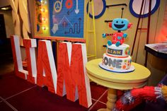Liam's Robot Themed Party – Cake