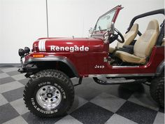 Jeep Cj7 For Sale, Off Road Shocks, Burgundy Paint, Lithia Springs, Jeep Models, Fender Flares, Aluminum Wheels, Jeeps, Colorful Interiors