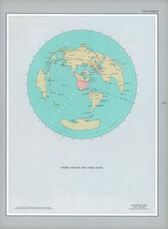 World Around the US, 1970s National Atlas #map #usa #world