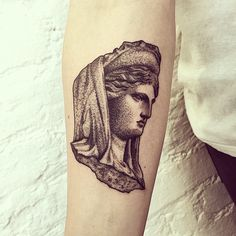 athena for laura #tattoo #athena #statue #blackworkerssubmission #lovettt…