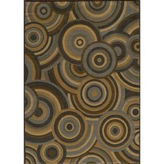 Dream Brown Circle Area Rug Rug Size: 2' x 3' $49.00 by Wayfair