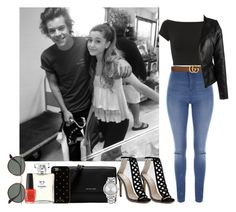 """""""Hanging out with Harry(Styles)&Ariana(Grande)"""" by ludya ❤ liked on Polyvore featuring Jane Norman, Helmut Lang, Michael Kors, Nine West, Kate Spade, Chanel, Gucci and Ray-Ban"""