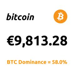 """Top News: """"... Bitcoin To $500,000? Plus, Fidelity Files For New Bitcoin Fund ...""""  1 Bitcoin = €9,813.28 BTC Dominance = 58.0%  #Bitcoin #BTC Marketing Data, Bitcoin Price, Top News, Inevitable, All About Time, Tech Companies, Rich List, Health Insurance, Wall Street"""