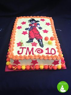This Dragon Ball Z cake will surely fire up your birthday party! Must love Nikon Cakes! ^_^ #nikoncakes #dragonballZ #birthdaycake #customized