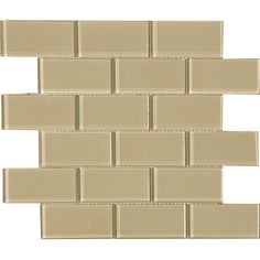 http://www.overstock.com/Home-Garden/Fawn-2x4-inch-Shiny-Glass-Tiles-Pack-of-11/6133411/product.html?refccid=F3TH2I4WIFPIJG2HF3URDBW2UE&searchidx=61 These glass tiles feature a bright glass on tile construction and are perfect for use in your home's interior. This case includes 11 pieces that cover 11 square feet.
