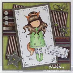 Bev's Little Craft Room: Gorjuss The Fox Sweet Stampin' Challenge Doodles Card