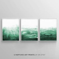 61 Ideas Art Painting Decor Etsy For 2019 Art Aquarelle, Watercolor Paintings Abstract, Watercolor Walls, Green Watercolor, Abstract Wall Art, Art Watercolour, Painting Walls, Acrylic Paintings, Watercolor Landscape