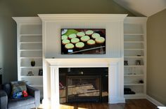 Miraculous Ideas: Painted Fireplace Before And After whitewash fireplace pictures.Tv Over Fireplace Beams fireplace drawing modern. Above Fireplace Ideas, Fireplace Beam, Tv Over Fireplace, Craftsman Fireplace, Cottage Fireplace, Fireplace Bookshelves, Fireplace Garden, Fireplace Cover, Fireplace Built Ins