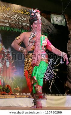 Ardhanariswara Dance: 6/27/2012. Male dancer performing the dance of both male and female. Link to image: http://www.shutterstock.com/pic-113750269/stock-photo-hyderabad-ap-india-may-venkatesh-perform-ardhanariswara-dance-during-international-kuchipudi.html
