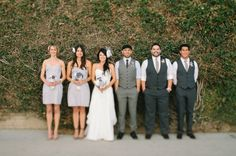 bridal party in gray #bridalparty #colorpalette