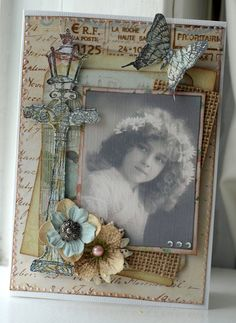 Vintage Card With DCWV Primrose Stack - Scrapbook.com