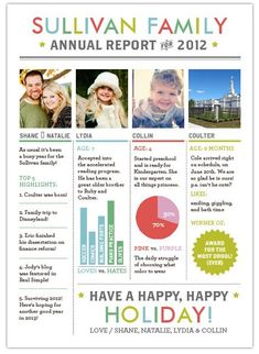 Family Newsletter for Christmas Card | Holiday - Spring, St ...