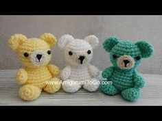 Knitting Patterns Toys Crochet Your Own Mini Bear Introduction Craft Patterns, Knitting Patterns, Crochet Patterns, Crochet Designs, Sharon Ojala, Crochet Teddy Bear Pattern, Bear Crafts, Crochet Keychain, Cute Crochet