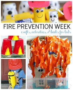 Fire Prevention Week Activities, Crafts, and Books for Kids #firesafety #firepreventionweek