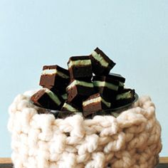 These squares practically explode in the mouth with silky, fudgy chocolate and cool mint ganache.