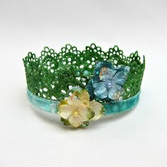 Lace crowns are surprisingly simple to make!  This tutorial will give a step by step guide to make your own beautiful lace crown.