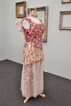 Images of the wonderful floral dresses in the RHS Florist of the Year Competition 2014 at the RHS Chelsea Flower Show