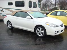 This is Pearl ~ 2007 Toyota Solara Convertible Toyota Solara Convertible, Toyota Cars, Transportation, Pearl, Vehicles, Style, Swag, Bead, Car