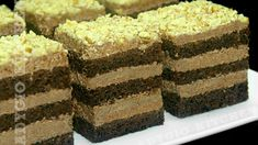 Prajitura Richard cu nuca si rom | Adygio Kitchen Romanian Desserts, Romanian Food, Sweets Recipes, Cake Recipes, Walnut Recipes, Food Cakes, Homemade Cakes, Vanilla Cake, Tiramisu