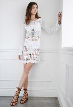 Outstanding Crochet: #Crochet Dress from Forever 21.