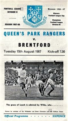 Brentford Fc, Queens Park Rangers Fc, English Games, Football Program, Champions League, Kicks, Bees, Pictures, Club