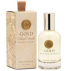 Niven Morgan Gold Perfume - Sophisticated and sexy, Niven Morgan's dreamy signature fragrance stirs sweet longings and fond memories with its warm top notes of vanilla and floral amber rising from a bouquet of rich Egyptian neroli and Italian bergamot blended in lusciously subtle aromas of sandalwood and musk. For the sensualist.    1.5 oz. bottle    Interior Design, Home Decor and Furnishings in Grove, Oklahoma.