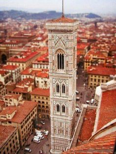 Giotto's Bell Tower, Florence, Italy.